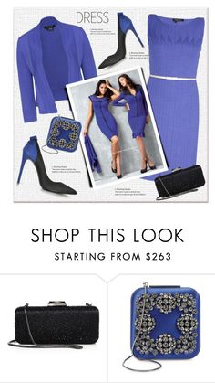 """""""Etcetera Dress"""" by sella103 ❤ liked on Polyvore featuring Etcetera, Saks Fifth Avenue Collection, Manolo Blahnik and Loriblu"""