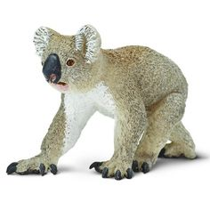 This is a Koala Wildlife Figure that is produced by the nice folks over at Safari. The Koala figure is professionally sculpted and a hand painted figure. Looks great and he's super cute! The Koala fig