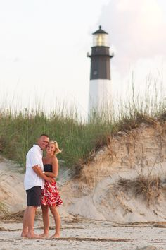 Engagement photos on Tybee Island | http://shannonchristopher.com/2012/06/caitlyns-camerons-surprise-proposal-at-tybee-island-lighthouse-tybee-island-wedding-photographer/#