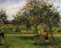 The Wheelbarrow, Camille Pissarro, c. 1881
