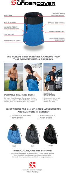 The Undercover - portable change room converts to backpack. by The Undress, inc. — Kickstarter