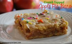 EASY   crumb topped apple pie bars