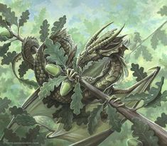 Oak dragon by *Ironshod on deviantART