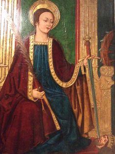 Santa Catalina amb cap als peus Museu de Maricel