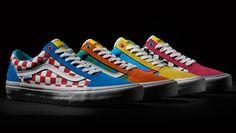 2ab0461220 Sepatu Golf Wang X Old Skool colorways Terbaru dengan paduan warna cerah  dan Checkerboard pada Uppernya