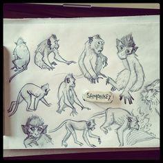 🐵🐒 #sketching #monkey