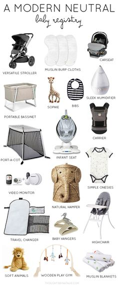 A Modern Neutral Baby Registry - baby nursery ideas Bebe Shower, Baby Hangers, Baby Must Haves, Baby Registry Must Haves, Gender Neutral Baby, Everything Baby, Baby Needs, Baby Time, Baby Essentials