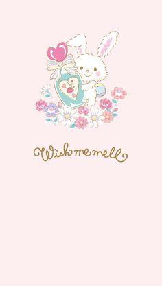 Wish me mell ♥ Sanrio ウィッシュミーメル Sanrio Wallpaper, Cartoon Wallpaper, Cute Pastel Wallpaper, Kawaii Wallpaper, Iphone Wallpaper, Kawaii Art, Kawaii Anime, Kawaii Stuff, Hello Kitty Christmas