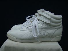 hi top 80s Reeboks! Maybe if you wore these last night you wouldn't have a fat ankle. :) @Erica Cerulo Gruber