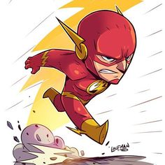 Here is Chibi Flash! Prints @ dereklaufman.com link is in my profile. #TheFlash #dccomics