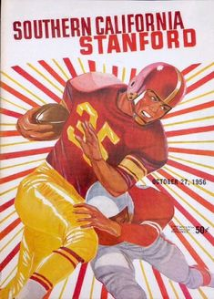 Football Art, Vintage Football, College Football, Stanford College, Stanford University, Metal Signs, Wood Signs, Stretched Canvas Prints, Wood Print