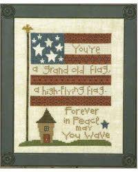 Flag cross stitch