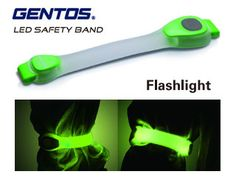 GENTOS/ジェントス AX-920LG LEDセーフティバンド ネオンカラータイプ 【Φ5mm緑色LED2灯】:楽天