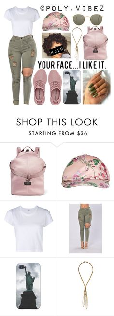 """Untitled #308"" by xo-mindless ❤ liked on Polyvore featuring adidas, Gucci, RE/DONE, Erickson Beamon and Ray-Ban"