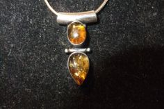 BALTIC AMBER double pendant  necklace....    NICE by honeypiezz2, $59.00