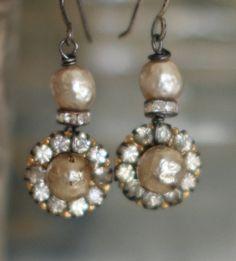 Velvet Honey  assemblage Miriam Haskell pearl by crownedbygrace, $62.00