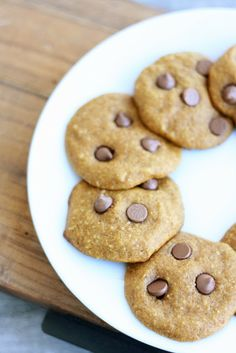 Pumpkin Chocolate Chip Cookies (Low Carb/Low Fat)