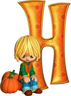 Cute Alphabet, Cute Letters, Alphabet Art, Letter Art, Letters And Numbers, Halloween Letters, Halloween Boo, Halloween Pumpkins, Halloween Tricks