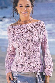 Пуловер с ажурными полосами. Обсуждение на LiveInternet - Российский Сервис Онлайн-Дневников