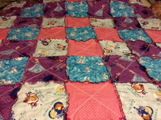 Frozen Rag Quilt  62 X 62 by NanasCraftingCollage on Etsy