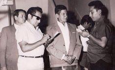 Periodista Fernando Suarez Vasquéz, detrás Oscar Miguel Deza Gallardo.
