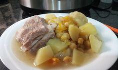 Cocido de garbanzos con calabaza y col en olla GM F