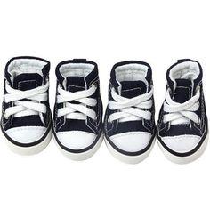 newest d5de3 72391 Converse Dog Shoes - Blue Denim