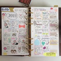 omg I'm in love with this writing and layout and everything. #planner #font