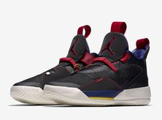 7d57515fc8db38 The Air Jordan 33 Tech Pack (Style Code  dressed in a Black Black-Dark  Smoke Grey-Sail. The Air Jordan XXXIII Tech Pack release date is set for