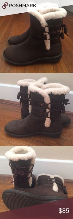 UGH Akadia Sheepskin Winter Boots for Women Toasty warm boot and only worn 2 months this past winter. Very durable and great quality. UGG Shoes Winter & Rain Boots