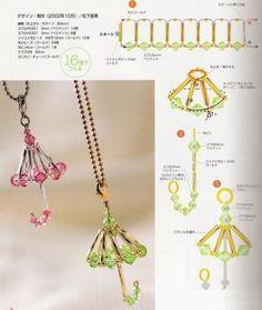Crystal Umbrella  - Beaded Jewelry Patterns 水晶串珠雨伞: