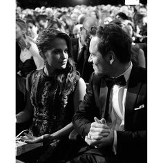 Michael Fassbender and Alicia Vikander @ the Baftas 2016.