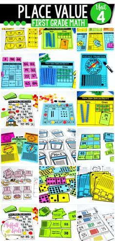 With this 1st Grade Unit having 32 Math Centers and 95 NO PREP Practice pages, there are plenty of opportunities to learn and master Place Value! First Grade Math, Grade 1, Core Learning, Tens And Ones, Place Values, Math Centers, Have Fun, Student, Activities
