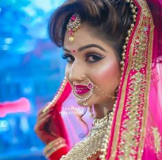 Royal Indian Wedding, Indian Wedding Makeup, Beautiful Indian Actress, Beautiful Bride, Indian Bridal Photos, Bridal Makeover, Desi Bride, Punjabi Bride, Lehnga Dress