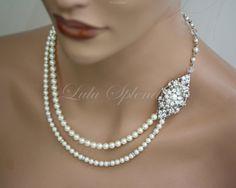 Bridal Necklace Wedding Pearl Necklace Bridal by LuluSplendor