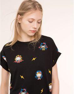 Pull&Bear - femme - t-shirts - t-shirt - noir - 05238340-V2016