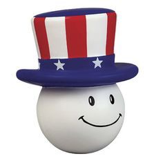 Stock patriotic mad cap stress reliever helps relieve stress and have fun! Perfect for Memorial Day, Fourth of July, or Veteran's Day events! This little guy is a fun way to promote your company's national pride! Be sure to have plenty for your next promotional event, these will sure draw enthusiastic customers!