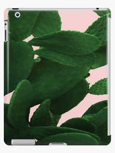 Cactus On Pink iPad case by ARTbyJWP from Redbubble #padcase #ipadcase #ipadaccessories #greenandpink #cactusprint #artbyjwp --   Close-up of a big cactus on a pink background. • Also buy this artwork on phone cases, apparel, stickers, and more.