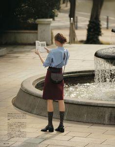 "thebookspub: from back issue CLUÉL ""JIL. Fashion Images, Look Fashion, Korean Fashion, Fashion Outfits, Womens Fashion, Fashion Design, Trendy Fashion, Mode Abaya, French Chic"
