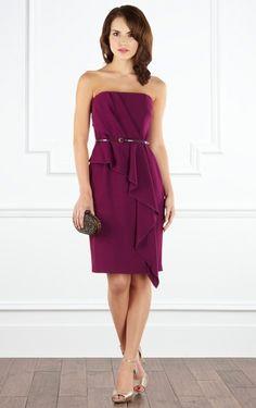 fuchsia sheath dress   Buy UK Sheath Short Strapless Fuchsia Dress , Ladies dresses and ...