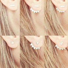 Triangle Ear Jacket & Silver Stud Earrings | Stella & Dot