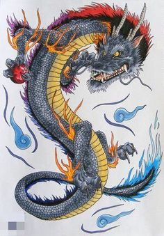 Find and save ideas about Dragon japanese tattoo design on Tattoos Book. More than FREE TATTOOS Dragon Japanese Tattoo, Japanese Dragon Tattoos, Fantasy Dragon, Fantasy Art, Dragon 2, Blue Dragon, Dragon's Lair, Dragon Artwork, Japanese Tattoo Designs
