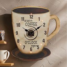 LED Coffee Mug Clock