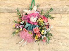 A personal favorite from my Etsy shop https://www.etsy.com/listing/270537443/easter-wreatheaster-bunny-wreathspring