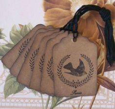 Tags Wreath Bird Paris Vintage Style Wish Tree Party by bljgraves, $4.00
