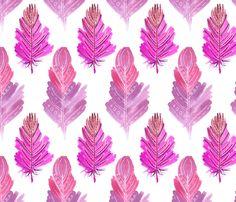 Feather fabric by julia_faranchuk on Spoonflower - custom fabric
