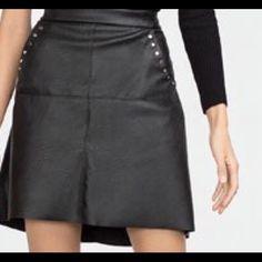 Zara Faux leather skirt Zara faux  black leather skirt Zara Skirts Mini
