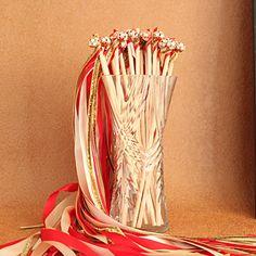 красные и слоновой кости и золота палочки ленты свадьбы - (набор из 10) – RUB p. 284,73