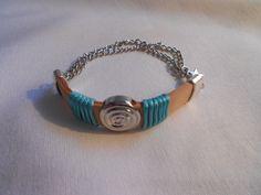 Leer met jasseron armband van www.tinytreasures.nl