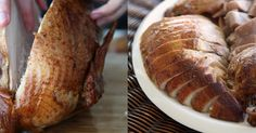 Carving a turkey's easier than you think, here's how it's done, step by step: